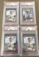 Topps Mini Bryce Harper Lot 2015 2016 PSA 9 8 (4 card lot) 1975 Design