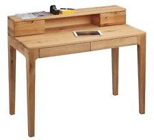 Schreibtisch Bürotisch - PAOLO - Sekretär 110 x 55 cm Wildeiche massiv geölt