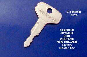 2 x TAKEUCHI FF  Master  Plant  Excavator  Digger  Keys + FAST FREE POST !