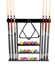 Cue Rack Only - 6 Pool - Billiard Stick Wall Rack Holder Black Scratch + Dent