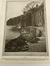1924 Britain LOOE , The Harbour, LOOE Port Cornwall Loo Original Vintage Print
