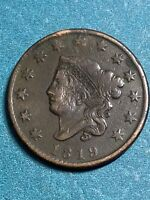 1819 Coronet Head Large Cent XF !!!