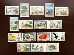 Anguilla Stamps 1972-1975 Scott #145-160 Tourism Definitives Full Set of 16v MNH