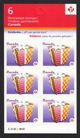 CELEBRATION = GIFT = FULL BOOKLET PANE of 6 = Canada 2011 #2435a MNH