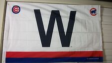 "CHICAGO CUBS 3X5 ""W"" FLAG WITH TEAM LOGOS"