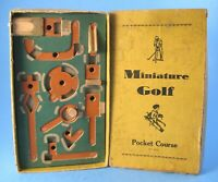 Antique Pocket Golf Course Dexterity Game by Miniature Game Co. Philadelphia