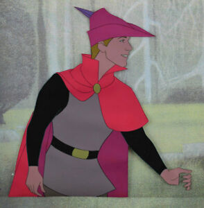 PRINCE PHILLIP ORIGINAL PRODUCTION CEL SLEEPING BEAUTY 1959 DISNEY RARE!