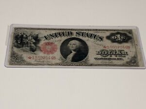 1917 $1 Legal Tender STAR NOTE! WANTED NOTE! VF+
