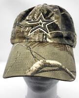 HOUSTON ASTROS Logo Camo Camouflage Adjustable Strapback Baseball Hat / Cap OSFA