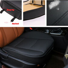 BLACK Leather Car Front Seat Cushion Pad Protector Mat Cover Sedan Driver