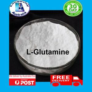 L-GLUTAMINE POWDER 100% PURE MICRONISED 25 50 100 200 GRAMS