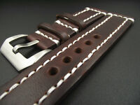 Mens Vintage Style Genuine Handmade Leather Watch Band Strap Spring Bars 18-24MM