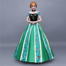 Frozen Anna Elsa Disney Cosplay Costume Kleid Kostüm Princess long dress B 2