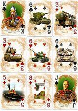 Collection Poker Jeu de cartes L'armée de la Russie 52 dessins l'ère soviétique