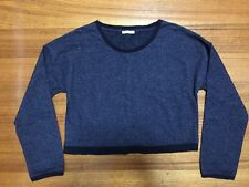 Women Long Sleeve Short Top Sweater Pull Over Size 16