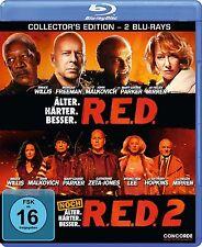 R.E.D. + R.E.D. 2 (Bruce Willis) 2 Blu-ray Discs NEU+OVP RED