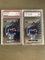 2013 Finest Refractor Yasiel Puig #91 PSA 10 Rookie Dodgers 2 Card Lot Gem Mint