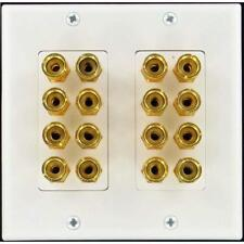 8 Speaker Wall Plate With Gold Plated Posts