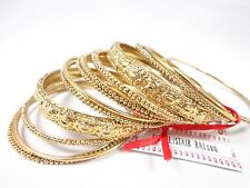 bangle bracelets set dots flower rose design Sir Alistair Rai 14 pieces of Gold