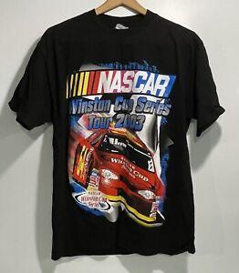 NWOT Vintage Nascar Winston Cup Series Tour Black Graphic T-Shirt  2003 Size L