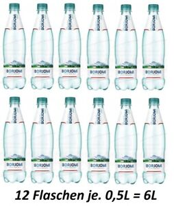 12X Mineralwasser Borjomi Georgian Mineral Water Вода минеральная Боржоми Грузия