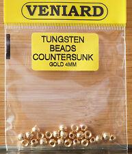 Tungsten Beads 25 Stück Veniard 4 mm fluo orange