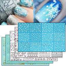 3D Large Self-adhesive Nail Art Transfer Stickers Decals DIY Christmas Snowflake