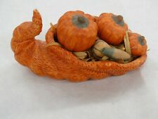 Ceramic Thanksgiving / Halloween Pumpkin Patch Cornucopia
