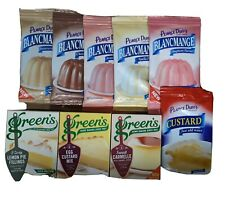 GREEN'S DESSERT PACK,  9 PACKETS (CUSTARD, WHIPS and PIE FILLINGS, 42 SERVINGS)