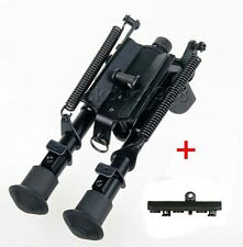 "6"" - 9"" Harris Style Bipod Adjustable 50 Degree swivel & KeyMod Rail Adapter"