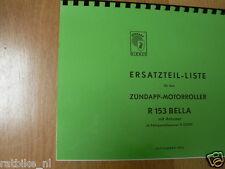 Z0017 ZUNDAPP---ERSATZTEILLISTE---R153 BELLA MIT ANLASSER MOTORROLLER AB FG. R23