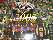 Scott Prince signed West Tigers Licence to Thrill Poster 1000mm x 700mm (#827)