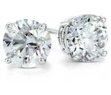 .25Ct Round Brilliant Cut Natural Diamond Stud Earrings In 14K Gold Push Back