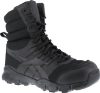 "Reebok Dauntless Ultra-Light Mens 8"" Tactical Boot w/Side Zipper- Black - RB8720"