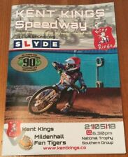 2018 KENT KINGS v MILDENHALL 21st MAY    ( EXCELLENT CONDITION )