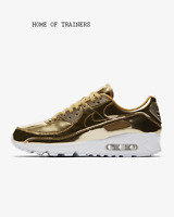 Nike Air Max 90 SP Metallic Gold Club Gold White Unisex Trainers All Sizes