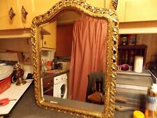 Vintage mirror arched top gold ornate bevel edge mirror 50x56