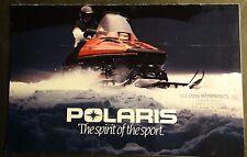 Vintage 1984 Polaris Snowmobile Sales Brochure 8 Pages (613)