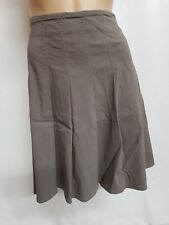 CUE  BROWNISH GREY SIZE12 PLEATED SMART OFFICE PARTY SKIRT