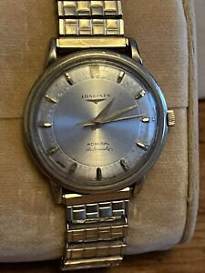Vintage Mens Longines Admiral Automatic Gold Filled Runs 34.5MM NR!