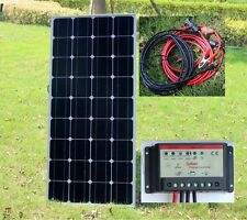 100w Solar Panel with 10A PMW Charger Controller 12v Battery Caravan Boat TV New