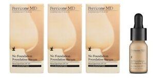 3x Perricone MD No Foundation Foundation Serum (Double Pack), 3x 10ml, BNIB.