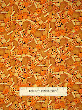Pretzel Cracker Snack Food Cotton Fabric Timeless Treasures C2075 14