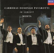 CARRERAS - DOMINGO - PAVAROTTI IN CONCERT WITH ZUBIN MEHTA - ROMA 1990 / CD