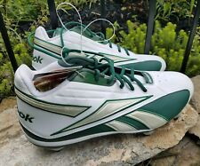 16 Reebok Mens NFL Equipment FGT Cleat White Green Football Shoes Cleats Pump