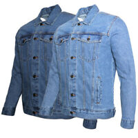 Men's Denim Jean Jacket Button Up Classic Fit Premium Cotton DBFL