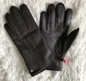 New UGG's Gloves Men's Size L leather Wrangell Smart Leather Gloves Brown