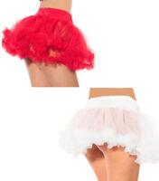 blanc femmes, Rouge Jupon Tulle jupe à volants déguisement halloween