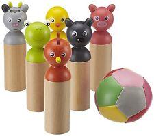 EICHHORN Kinder-Bowlingspiel Holzspielzeug Spiel Bowling Spiele ab 3 Jahren Holz