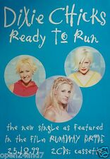 "Dixie Chicks ""Ready To Run - From The Film, Runaway Bride"" U.K. Promo Poster"